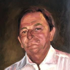 Portrait, oil on canvas 40.6x50.8 cm