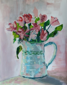 Roses in a jug