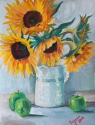 Sunflowers of Summer, SOLD