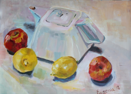 Still Life with a White Teapot