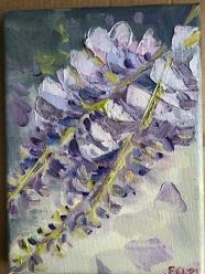 Evgenia Osmani, oil on canvas