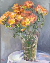 Evgenia Osmani still life, oil on canvas